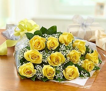 A Dozen Yellow Rose Bouquet